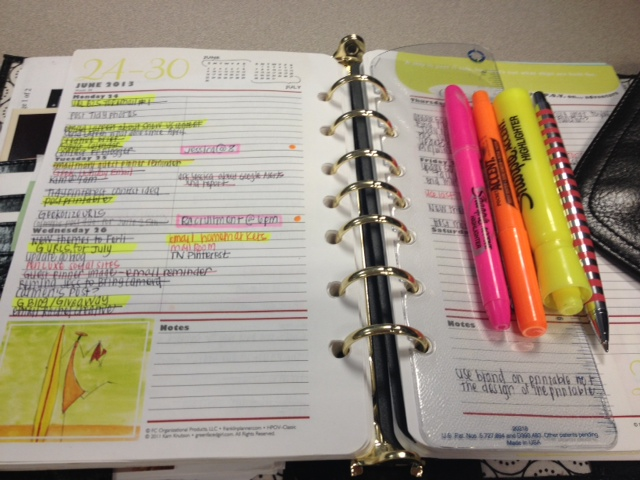 Color Coded Schedule