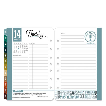 Planner Insert Music Themed