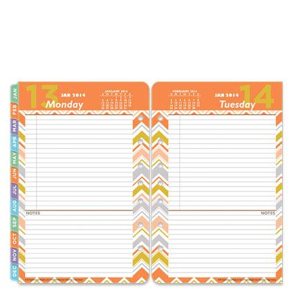 Orange Planner Pages