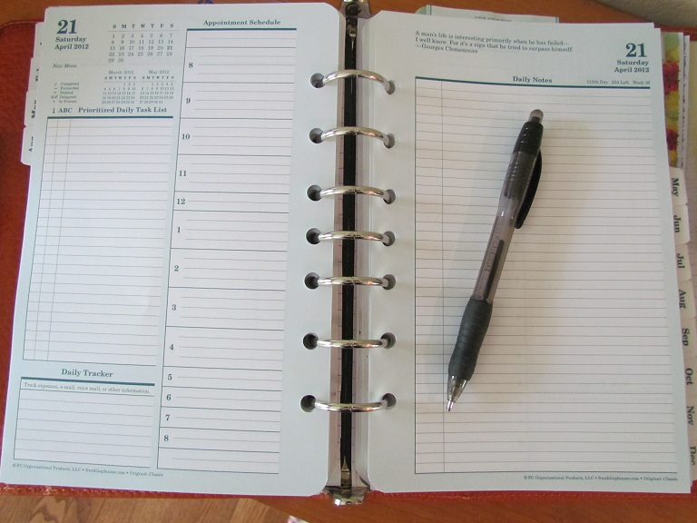 planner planner page edit