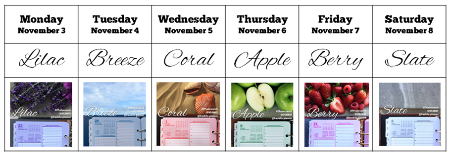 colors calendar