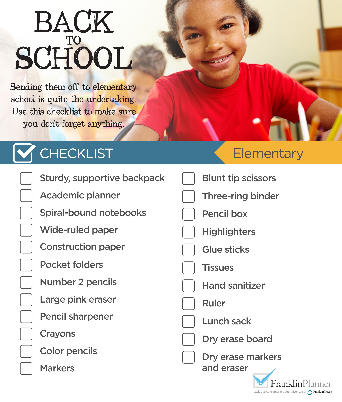 Elementary Checklist