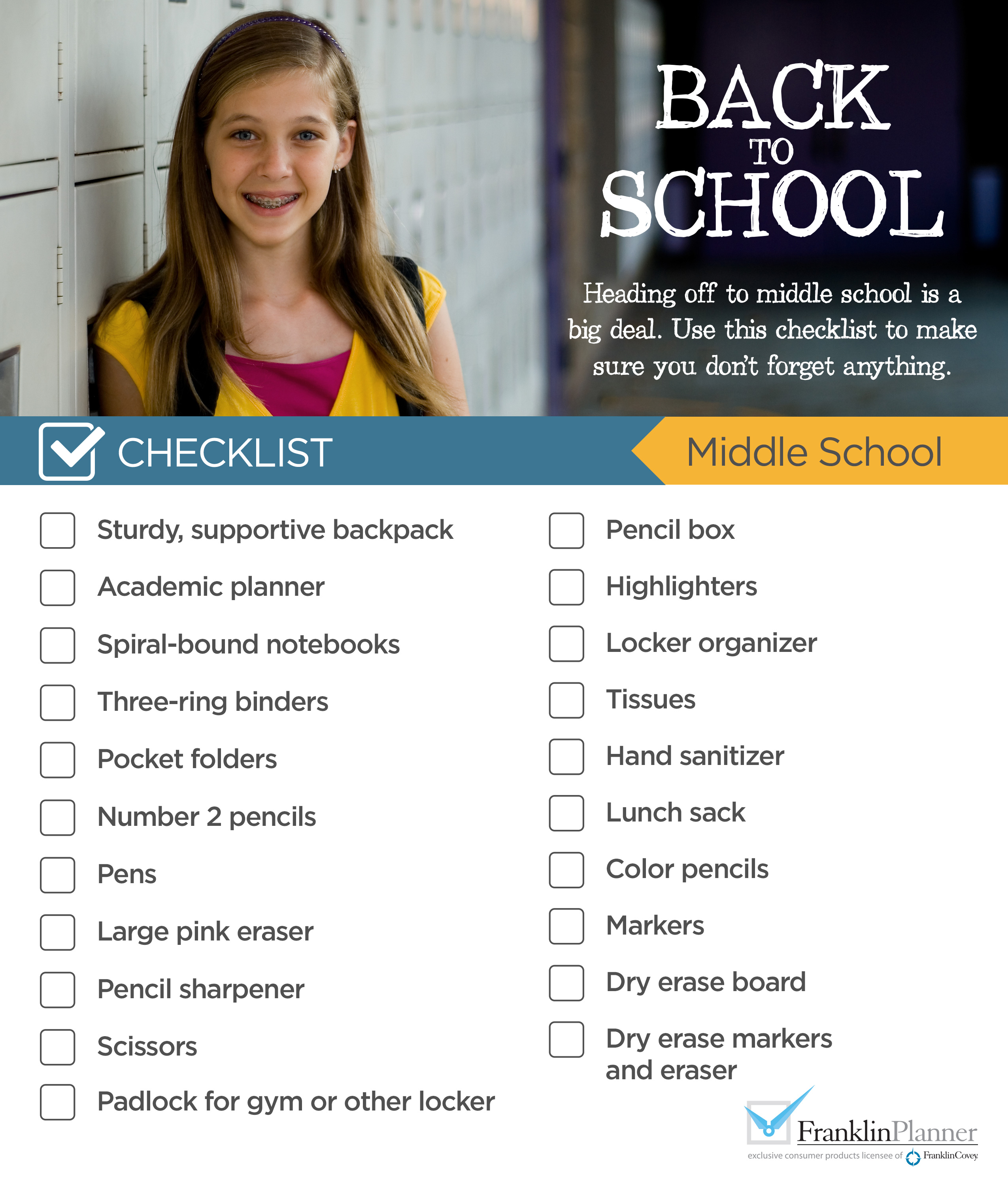 Middle School Checklist