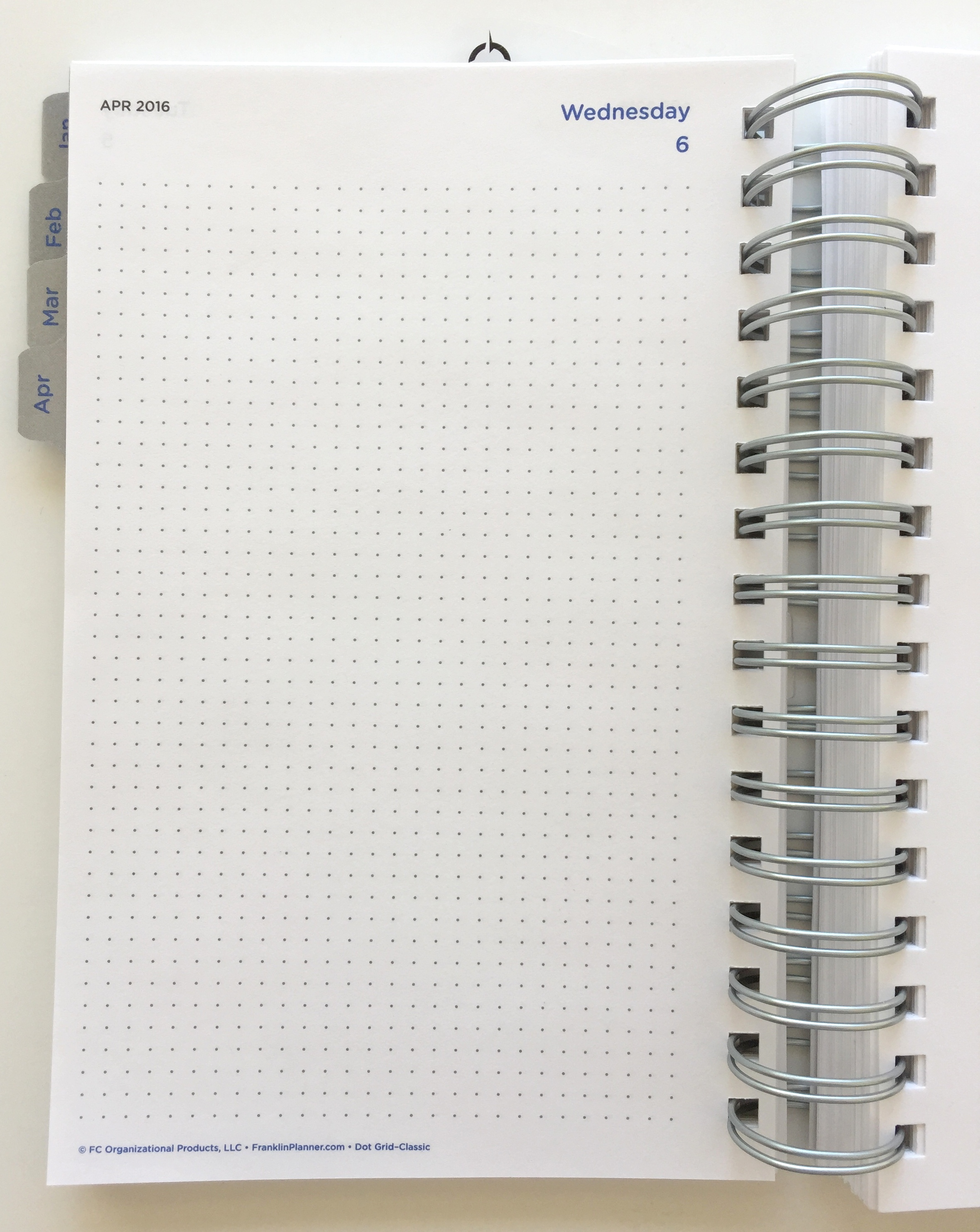 Dot Grid Wirebound Daily Planner - WIRE Center •