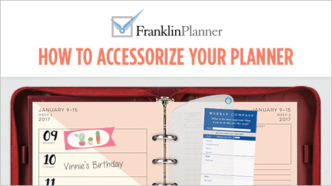 How to accessorize your planner