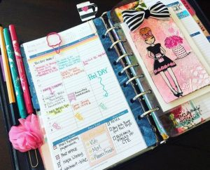 colorful planner example
