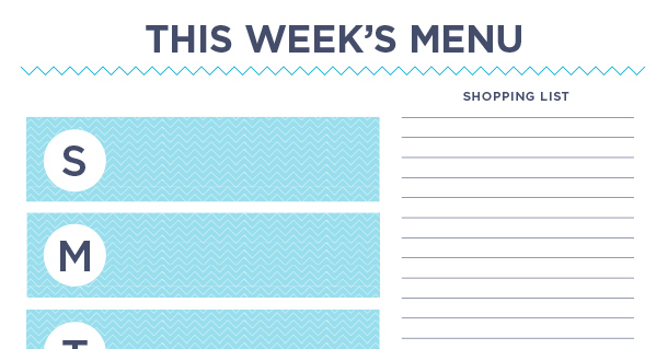 This week's menu