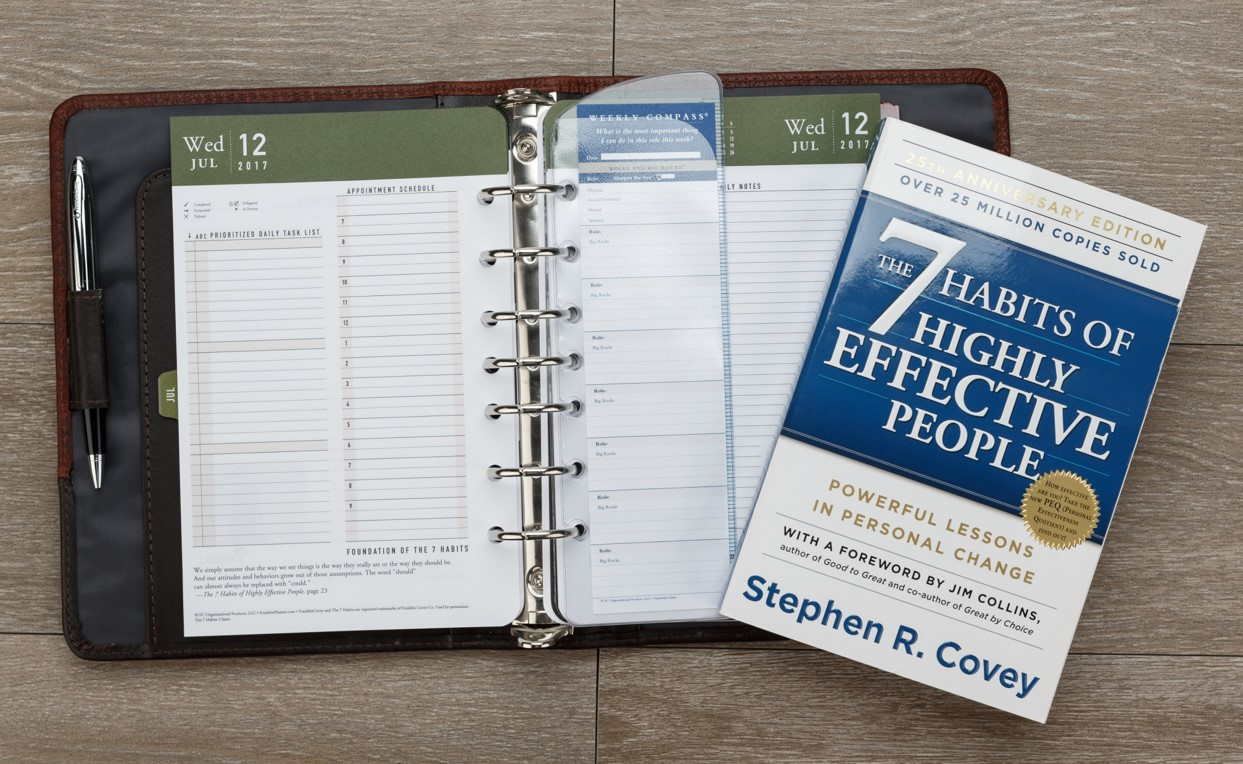 7 habits book and planner