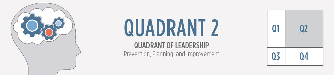 Quadrant 2: Quadrant of Leadership, Prevention, Planning, and Improvement