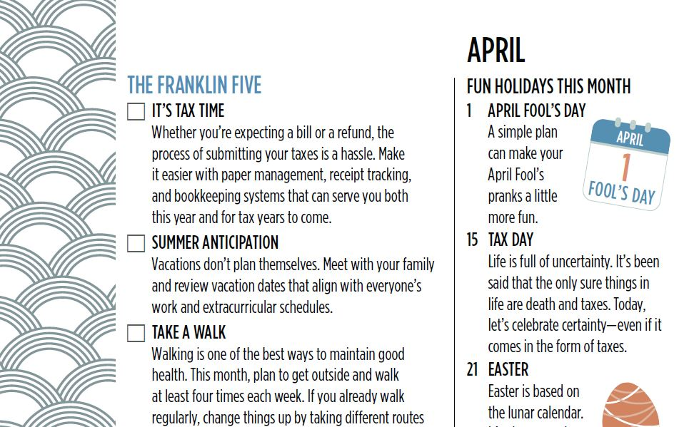 The Franklin Five April