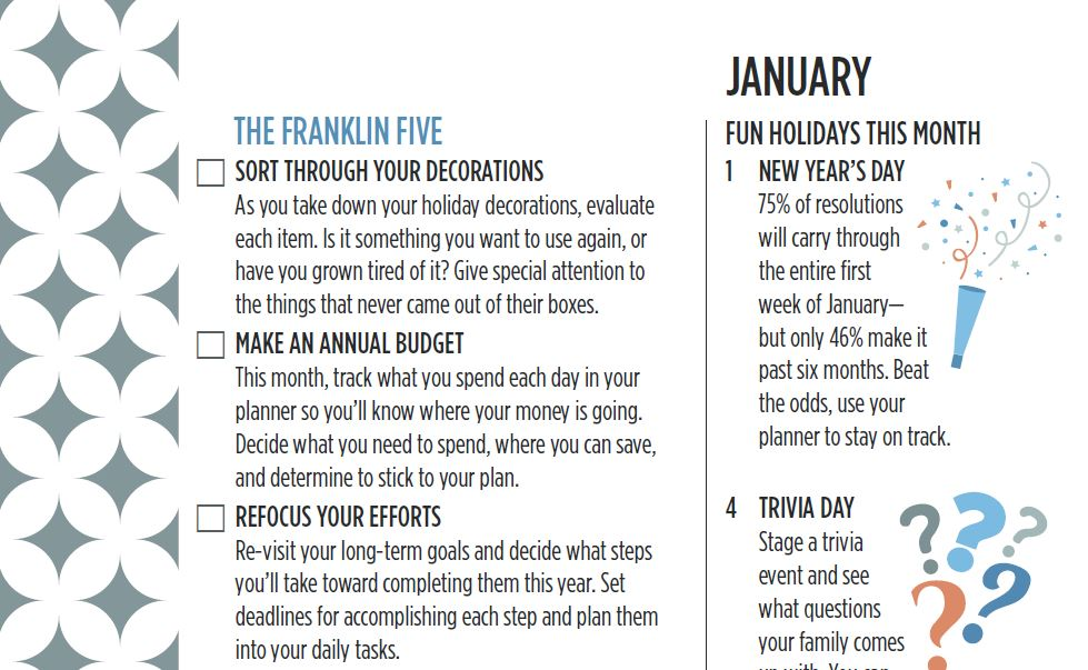 The Franklin Five January