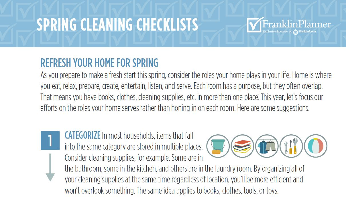 Spring Cleaning Checklists. Refresh your home for spring.