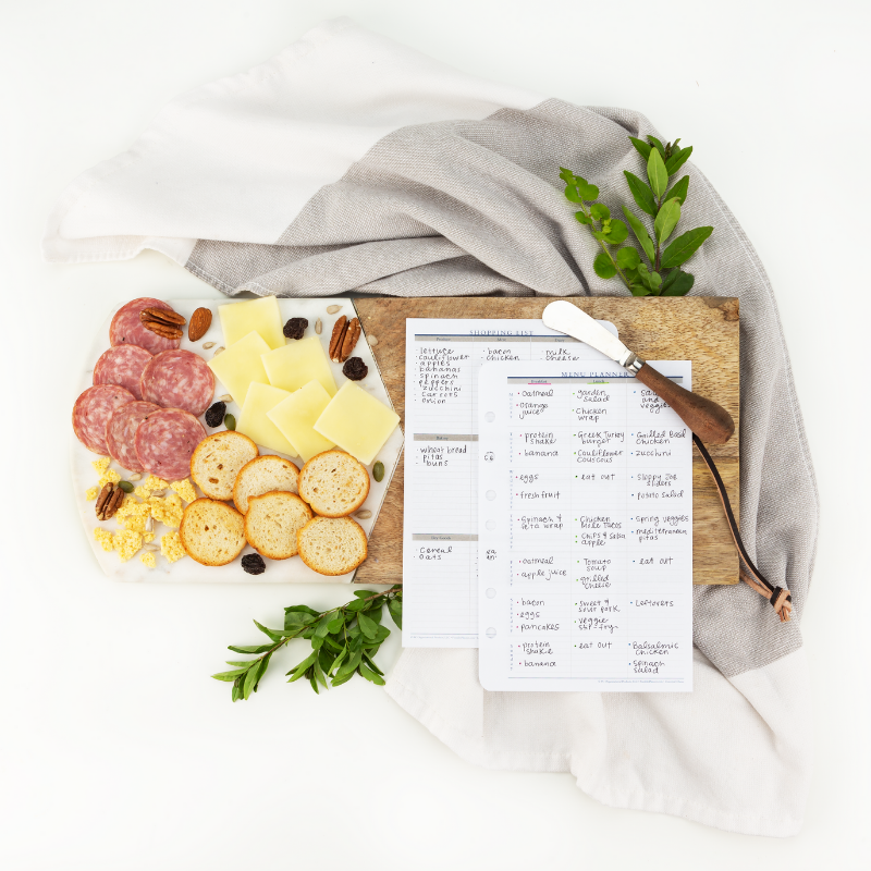Integrating meal planning into your planner system.