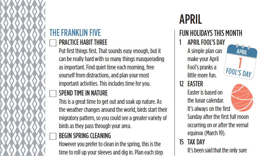 The Franklin Five for April