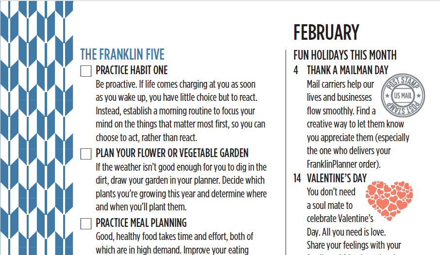 The Franklin Five for February