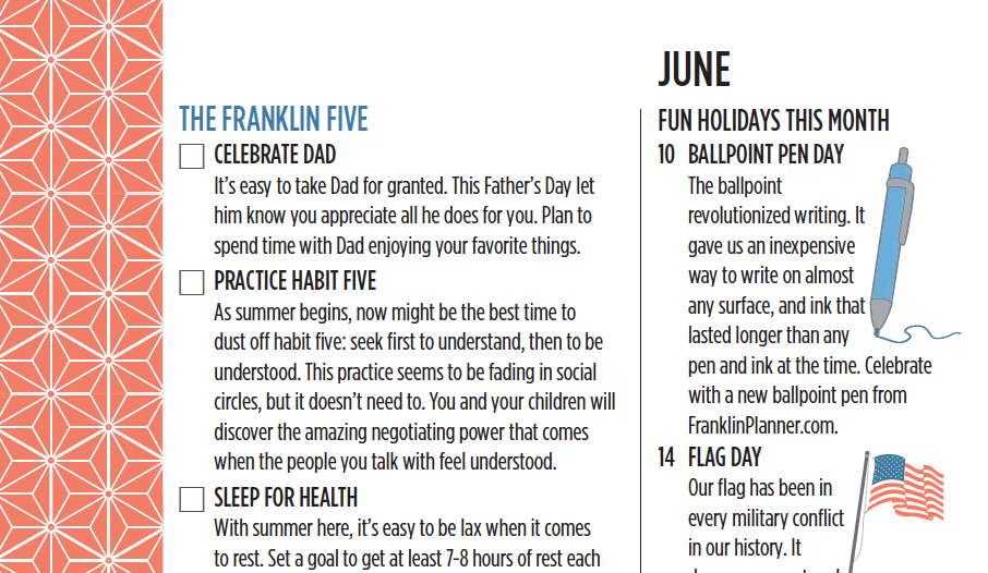 The Franklin Five for June