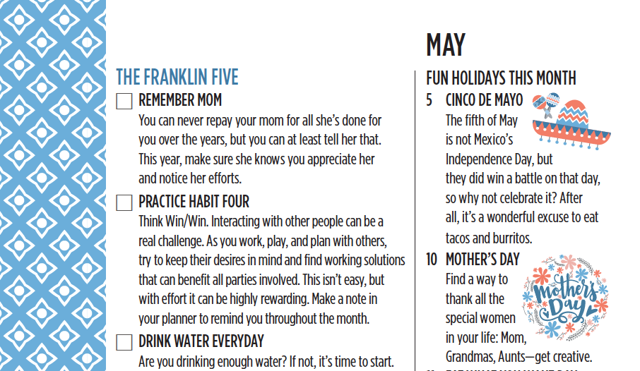 The Franklin Five for May