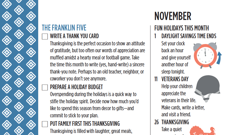 The Franklin Five for November