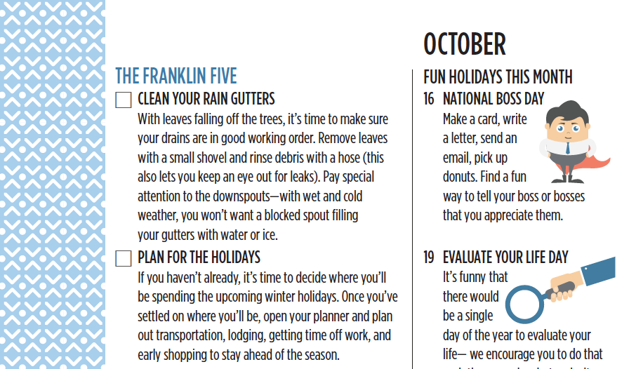 The Franklin Five for October