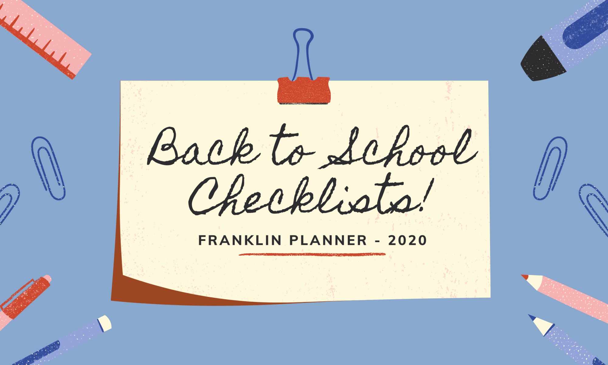 Back to school checklists