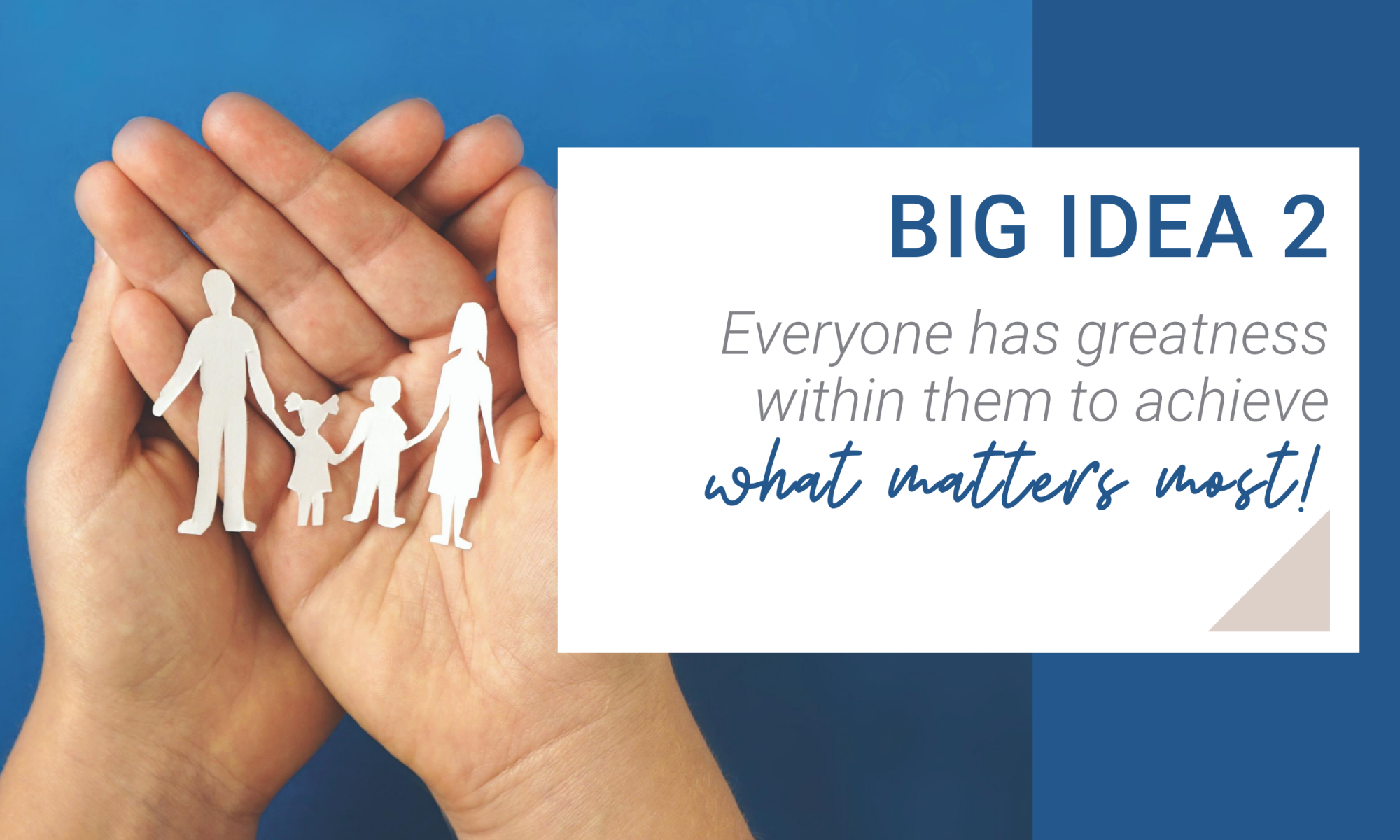 Big Idea 2. Everyone has greatness within them to achieve what matters most