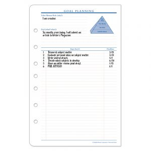 Goal Planning Form